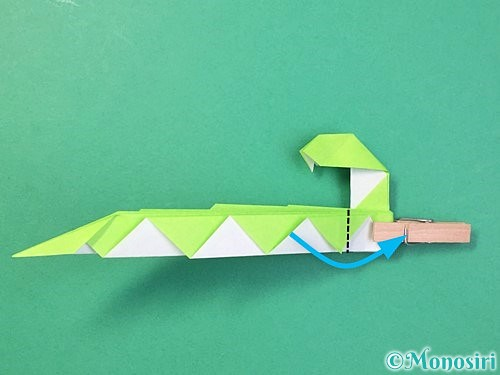 折り紙で立体的な蛇の折り方手順56