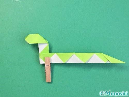 折り紙で立体的な蛇の折り方手順57