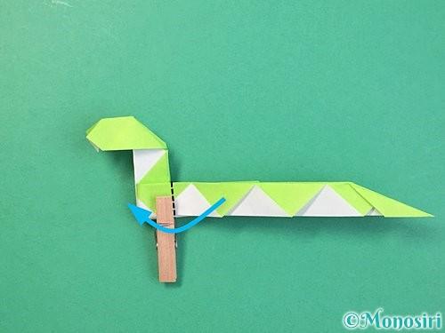 折り紙で立体的な蛇の折り方手順58