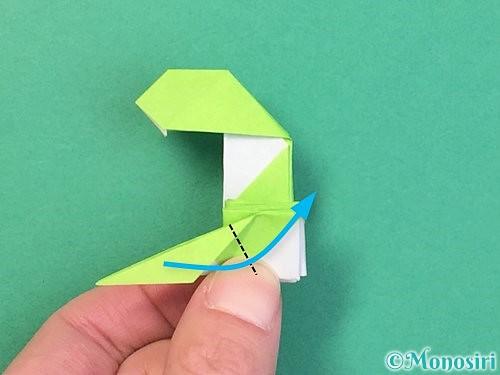 折り紙で立体的な蛇の折り方手順62
