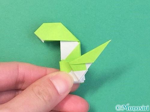 折り紙で立体的な蛇の折り方手順63