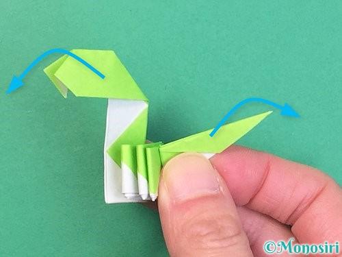 折り紙で立体的な蛇の折り方手順64