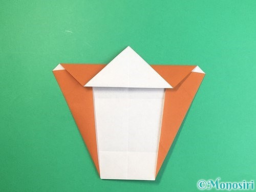 折り紙で馬の顔の折り方手順12