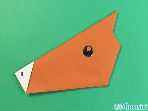 折り紙で馬の顔の折り方手順17