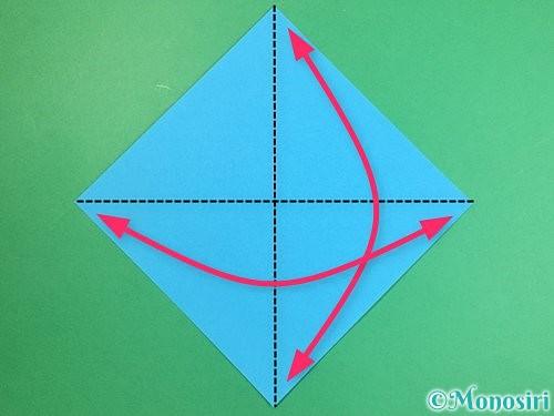 折り紙で立体的な馬の折り方手順1