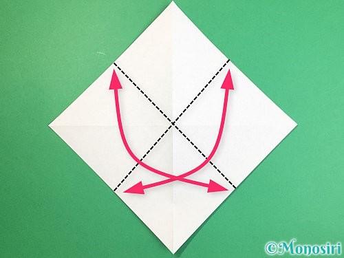 折り紙で立体的な馬の折り方手順4