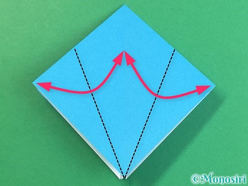 折り紙で立体的な馬の折り方手順9