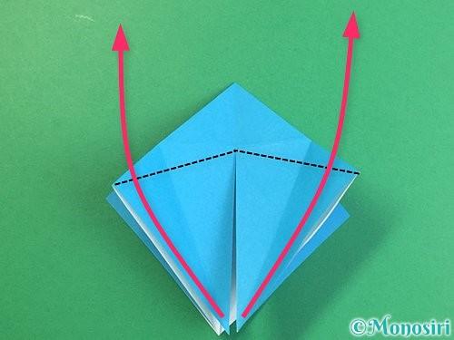 折り紙で立体的な馬の折り方手順17