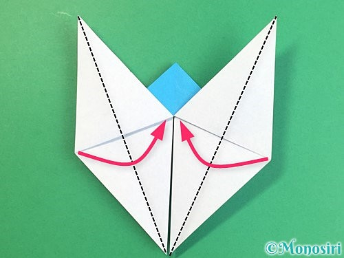 折り紙で立体的な馬の折り方手順20