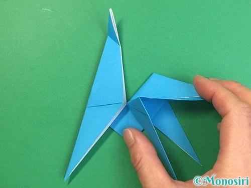折り紙で立体的な馬の折り方手順28