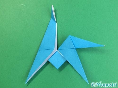 折り紙で立体的な馬の折り方手順29