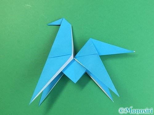 折り紙で立体的な馬の折り方手順30