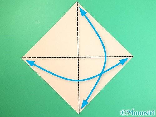 折り紙で立体的な羊の折り方手順1