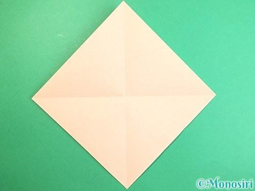 折り紙で立体的な羊の折り方手順2
