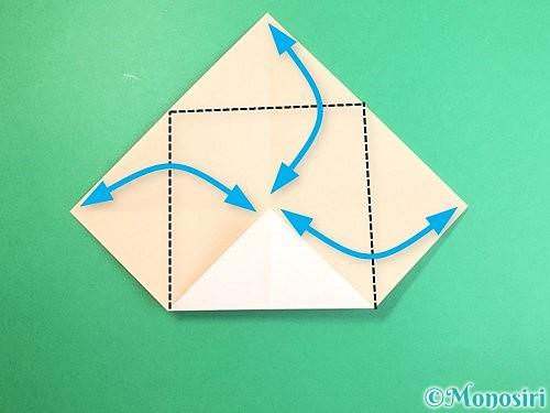 折り紙で立体的な羊の折り方手順5