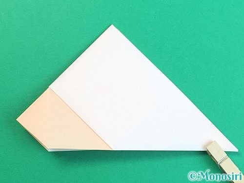 折り紙で立体的な羊の折り方手順19