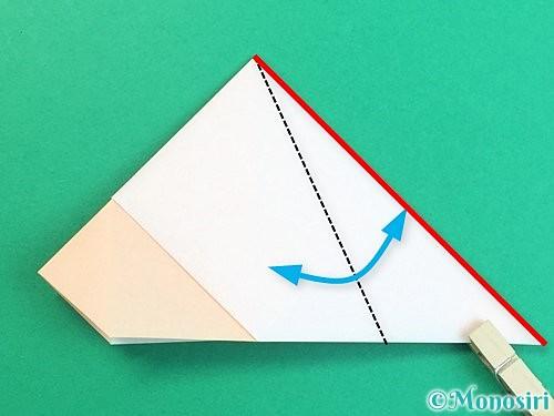 折り紙で立体的な羊の折り方手順20