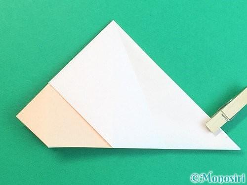 折り紙で立体的な羊の折り方手順21