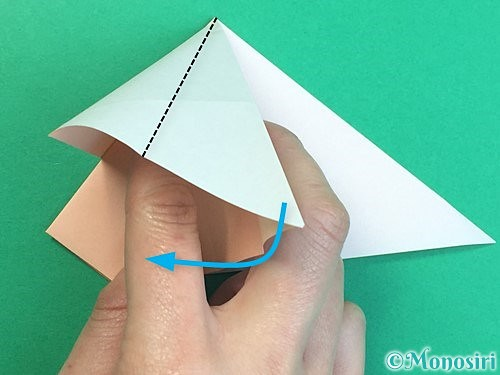 折り紙で立体的な羊の折り方手順23
