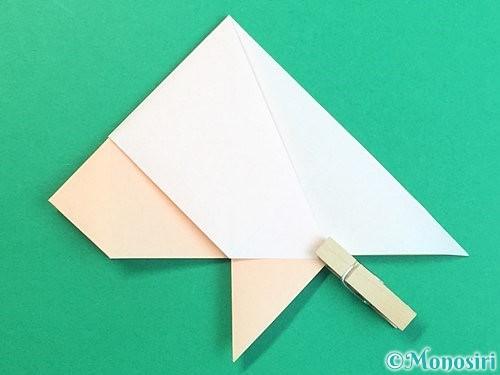 折り紙で立体的な羊の折り方手順25