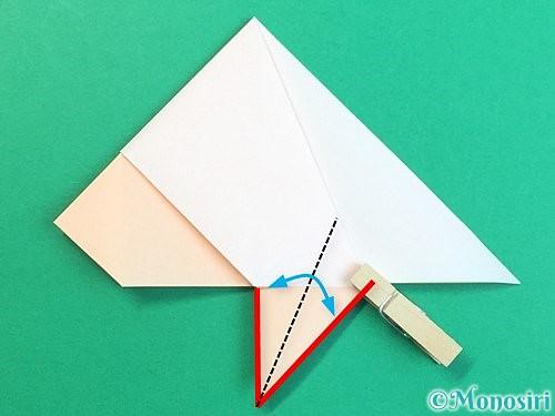 折り紙で立体的な羊の折り方手順26