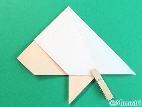 折り紙で立体的な羊の折り方手順27