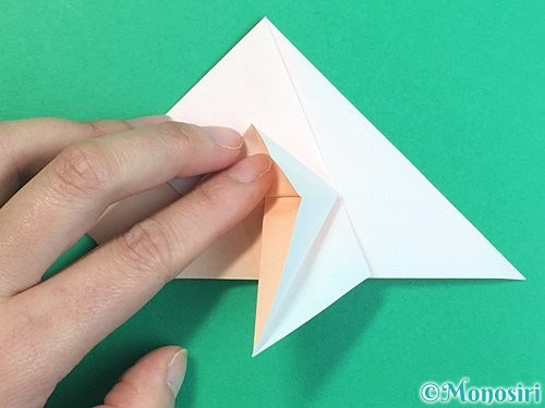折り紙で立体的な羊の折り方手順30