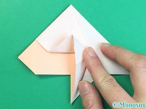 折り紙で立体的な羊の折り方手順31