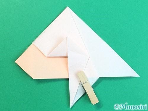 折り紙で立体的な羊の折り方手順33