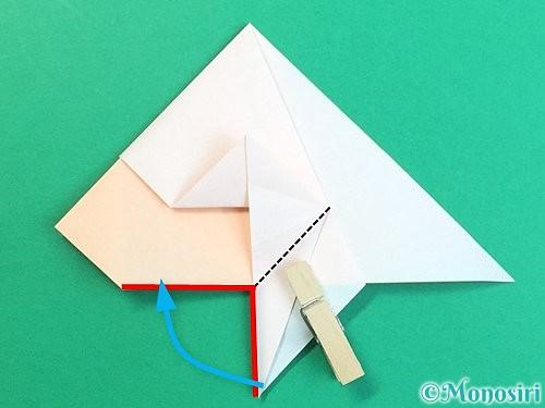 折り紙で立体的な羊の折り方手順34