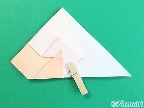 折り紙で立体的な羊の折り方手順35