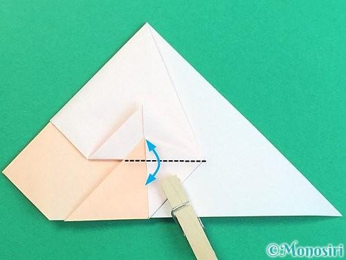 折り紙で立体的な羊の折り方手順36