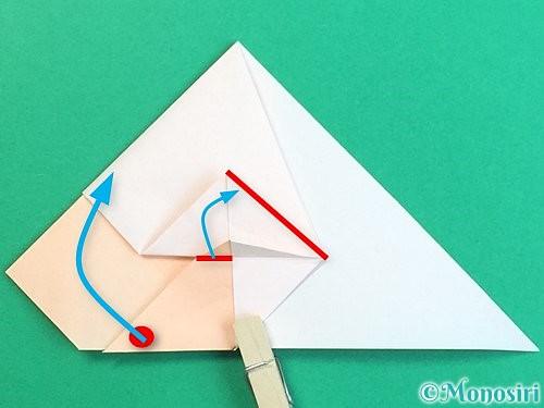 折り紙で立体的な羊の折り方手順38