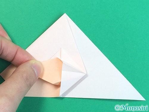 折り紙で立体的な羊の折り方手順39