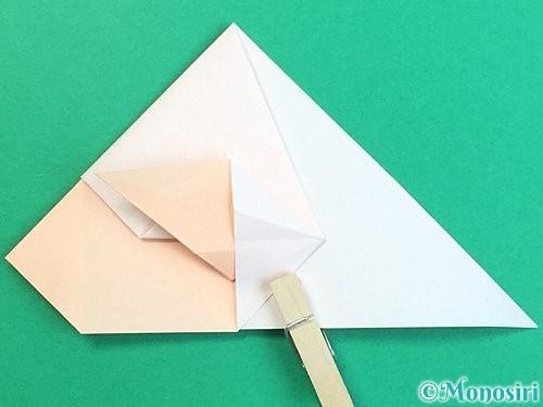 折り紙で立体的な羊の折り方手順41