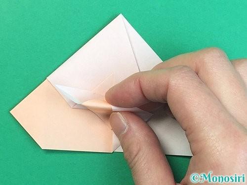 折り紙で立体的な羊の折り方手順43
