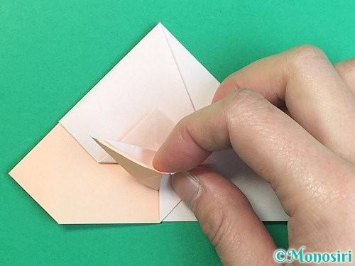 折り紙で立体的な羊の折り方手順44