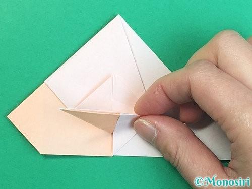 折り紙で立体的な羊の折り方手順45