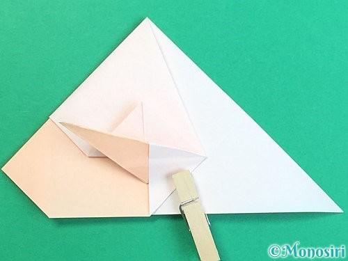 折り紙で立体的な羊の折り方手順46