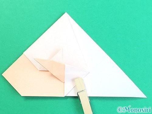 折り紙で立体的な羊の折り方手順48
