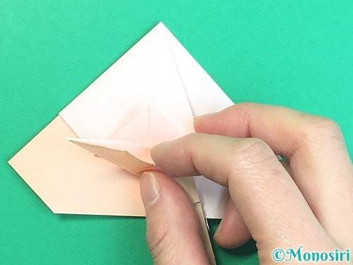 折り紙で立体的な羊の折り方手順49