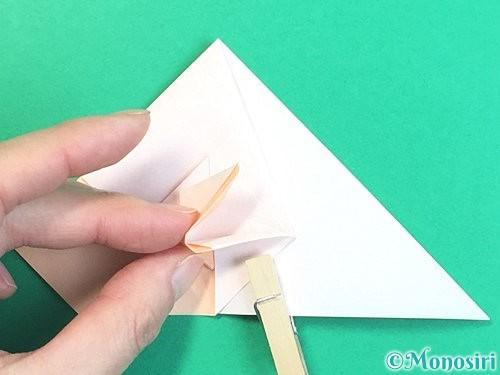 折り紙で立体的な羊の折り方手順51
