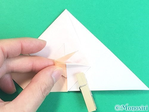 折り紙で立体的な羊の折り方手順52