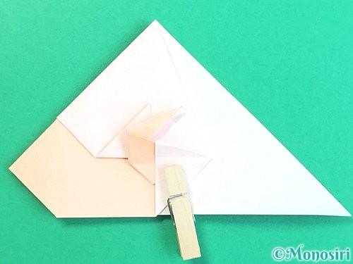 折り紙で立体的な羊の折り方手順53