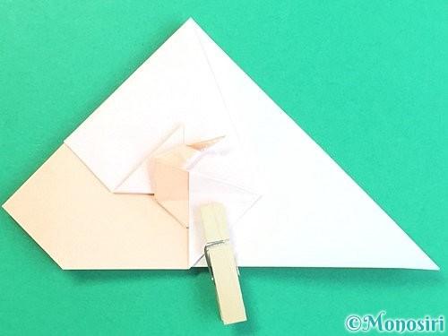 折り紙で立体的な羊の折り方手順55