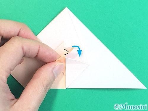 折り紙で立体的な羊の折り方手順56