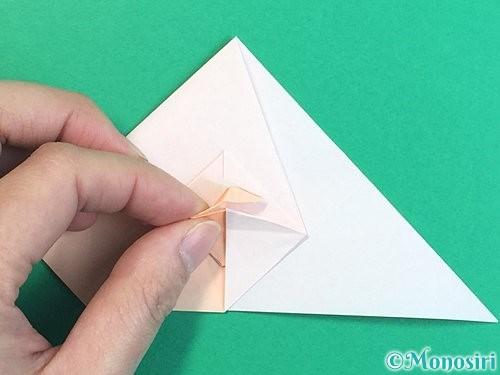 折り紙で立体的な羊の折り方手順57