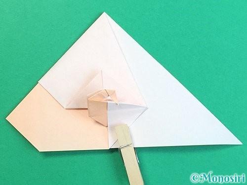 折り紙で立体的な羊の折り方手順58