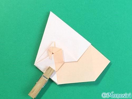 折り紙で立体的な羊の折り方手順59