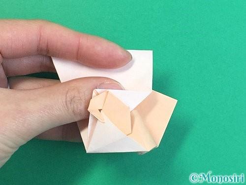 折り紙で立体的な羊の折り方手順64